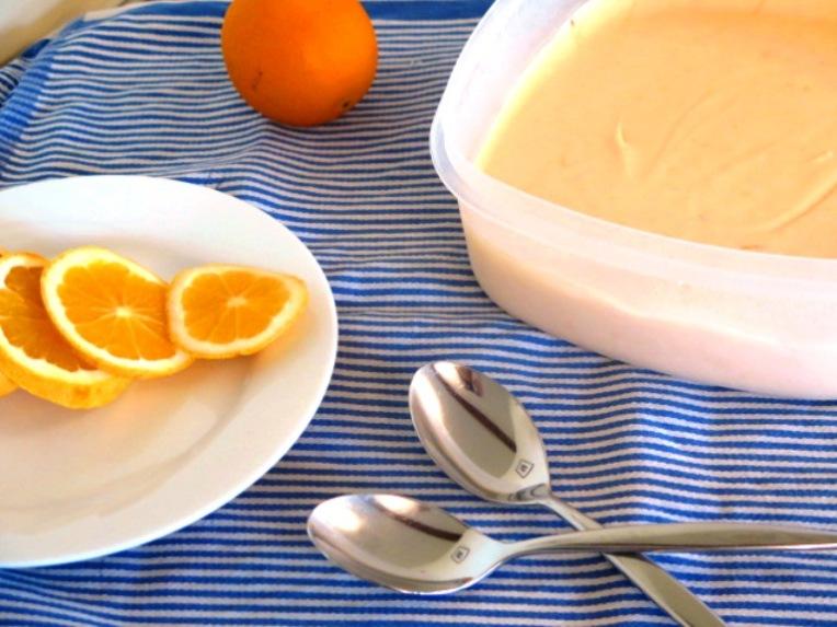 no-churn orange ice cream